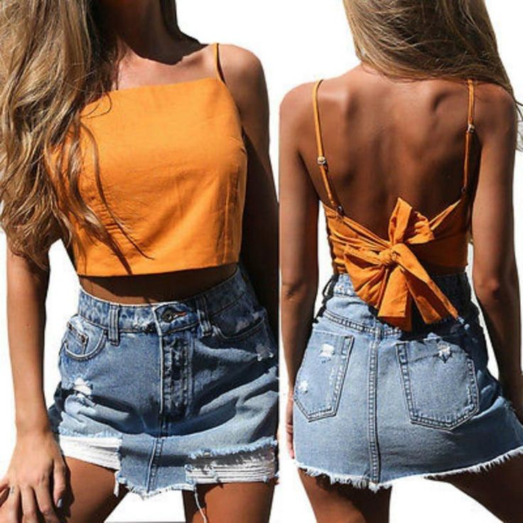 Fashion Women Summer Halter Backless Bowknot Strapless Tanks Top Vest Camis Sleevelesseavengifts