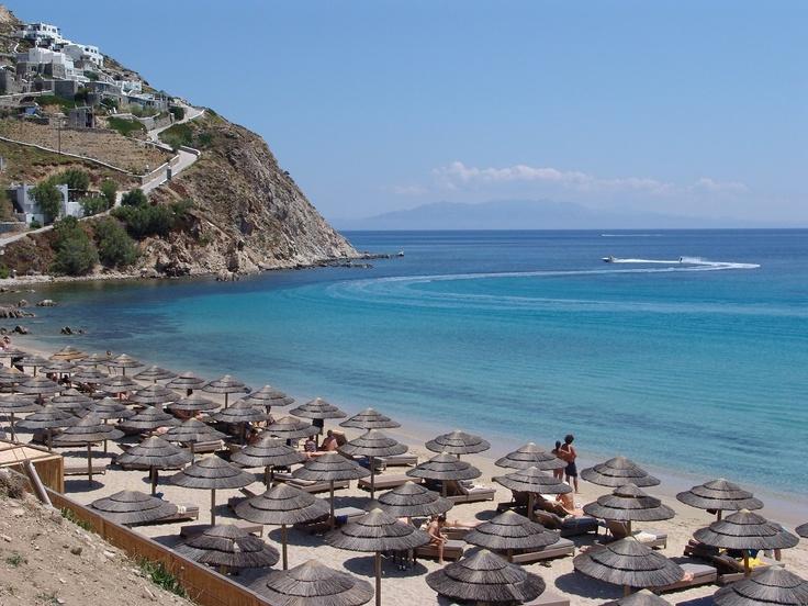 Amazing beach in Mykonos, Greece