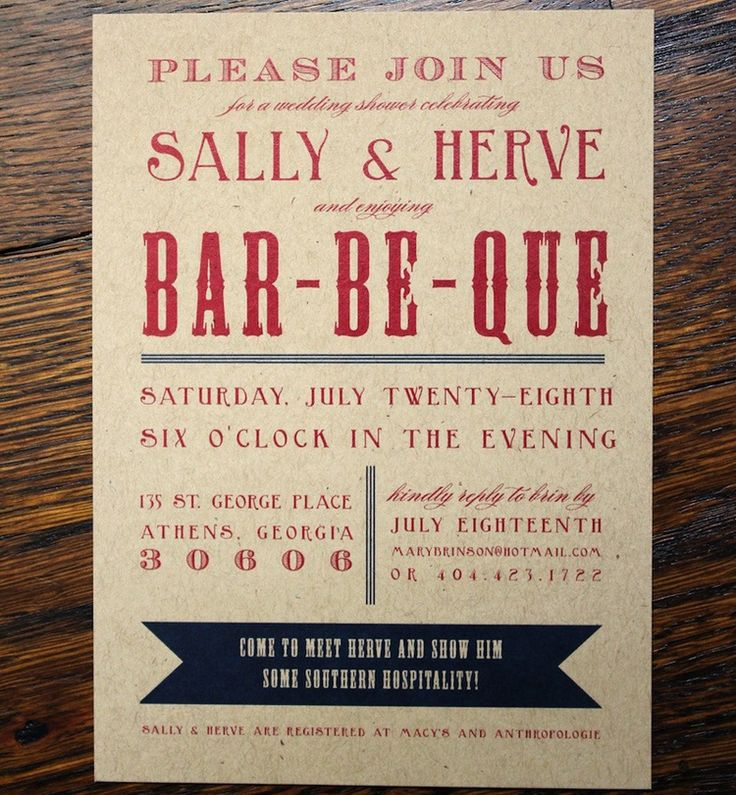 baby shower bbq invitation templates%0A BBQ Barbecue Wedding Party Invitations