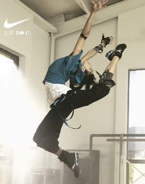 When you have the brand image and recognition that Nike has, sometimes a striking image is all you need. Love the photo