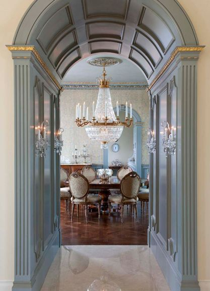 Dining room ideas for classic decor. See more: http://www.brabbu.com/en/inspiration-and-ideas/