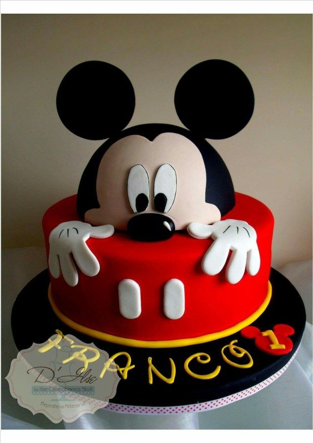 mickey mouse face cake design 2 Great Image of Mickey Mouse Birthday Cakes - albanysinsanity