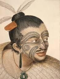 Māori people with tattoo