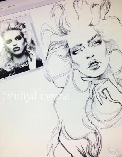 Mode #Zeichnung #Gesicht #Makeup # 67 + #Ideen # #Mode # #Zeichnun