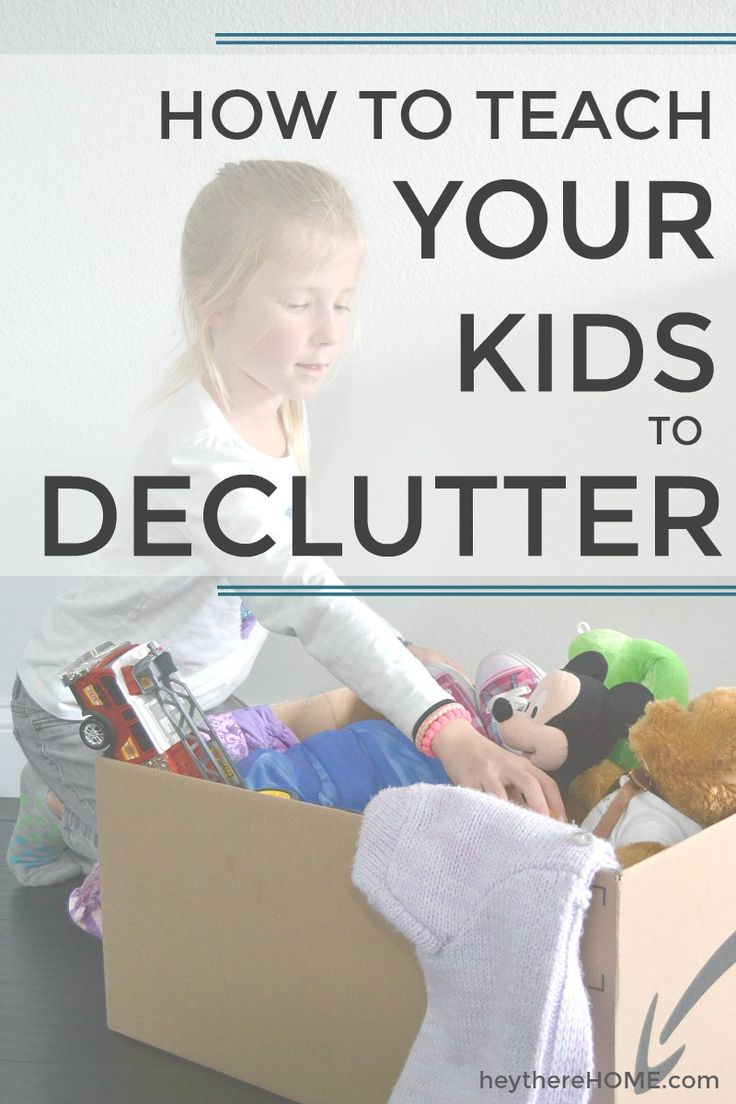 Kid's Room Organization - How to teach your kids to declutter #kidsroomorganization #toyorganization #declutter via @heytherehome