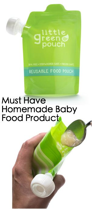 Homemade Baby Food Essential. Reusable Food Pouch - Little Green Pouch