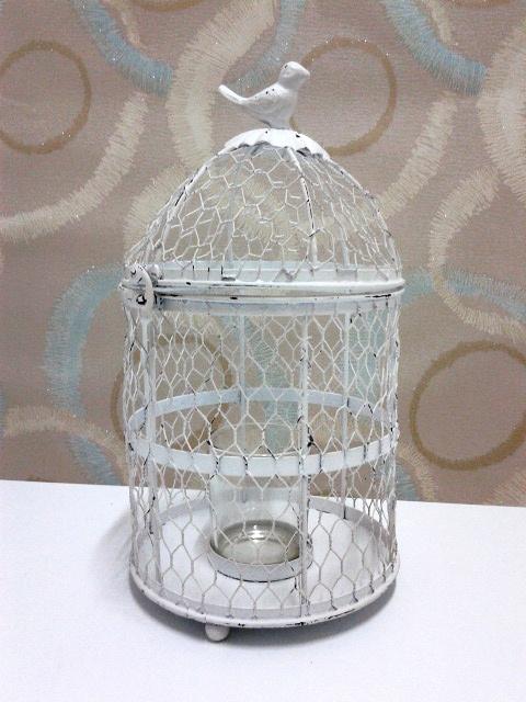 Beyaz Kuş Kafesi Mumluk