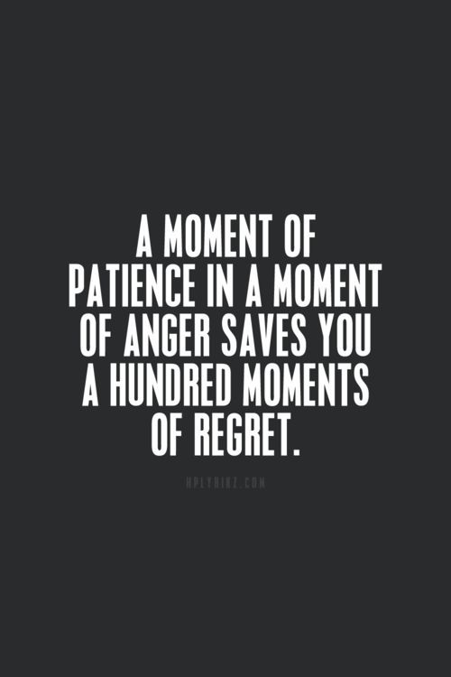 A moment of patience..