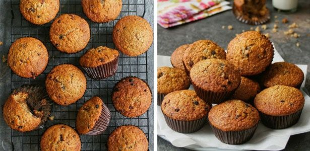Bran and fruit muffins