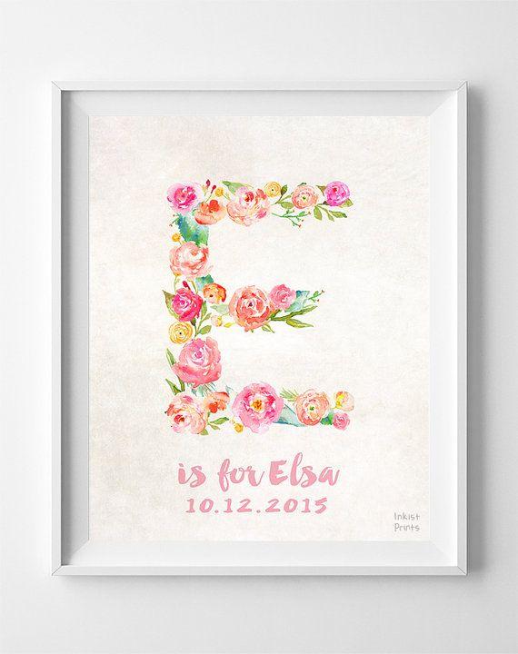 Personalized Print Elsa Custom Name Nursery Art by InkistPrints