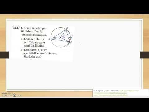 Matematik 5000 Ma 2c   Kapitel 3   Randvinklar och medpunktsvinklar   3137