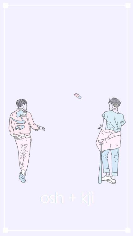 kpop EXO tumblr lineart pastel