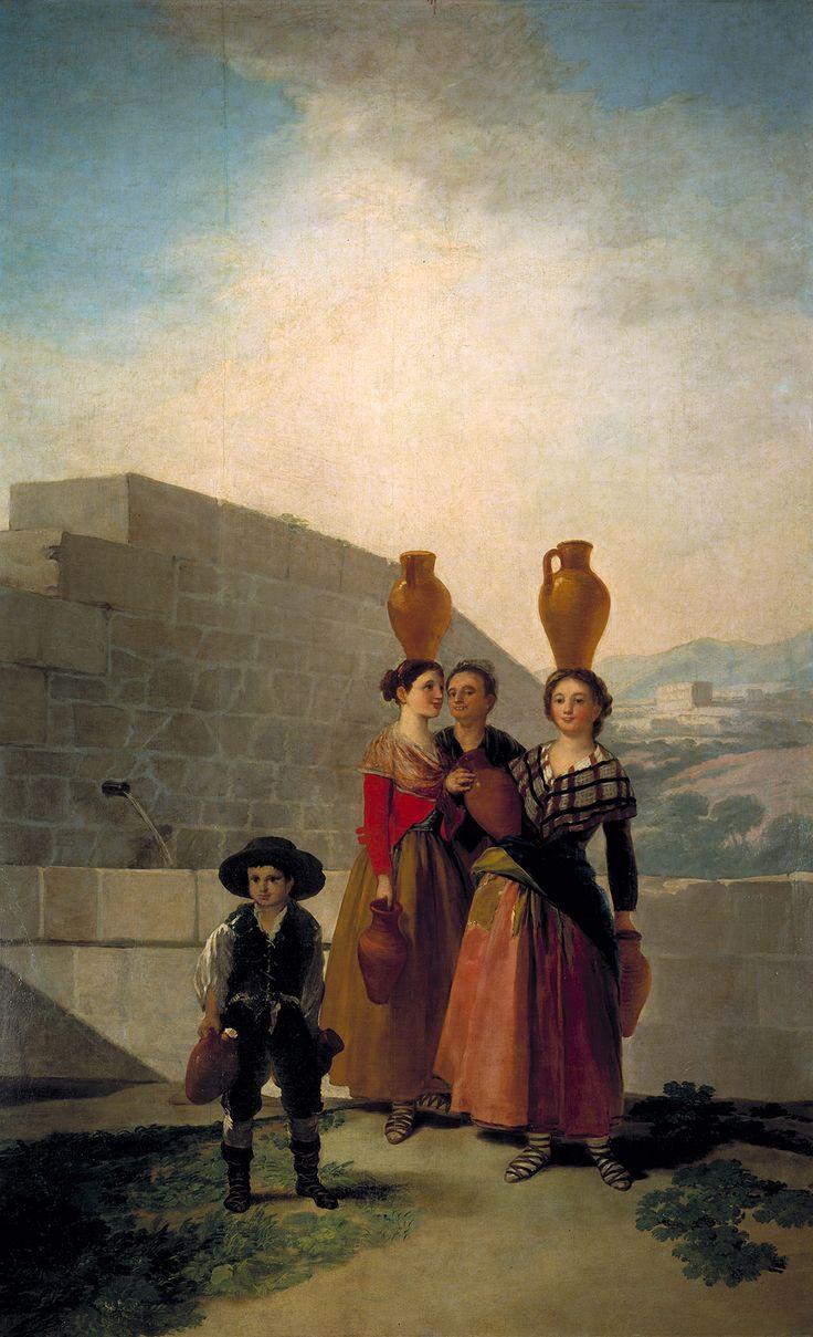 """Francisco de Goya: """"Las mozas del cántaro"""". Oil on canvas, 262 x 160 cm, 1791-92. Museo Nacional del Prado, Madrid, Spain"""