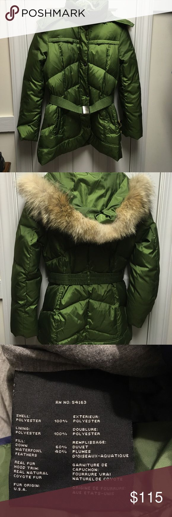 Marc New York Andrew Marc jacket Marc New York Andrew Marc green down jacket with detachable hood! Andrew Marc Jackets & Coats