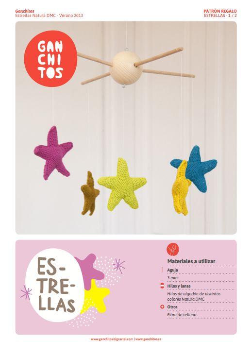 Estrellas Amigurumi - Patrón Gratis en Castellano