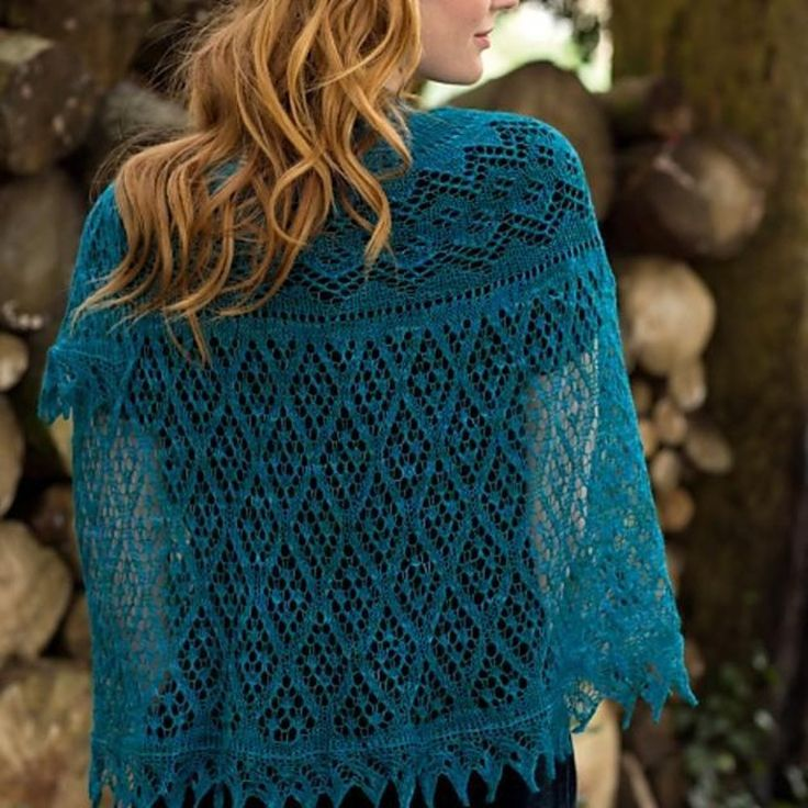 Irma is a stunning half-circle shawl which is shaped by using Elizabeth Zimmerman's Pi formula and finished with a knitted-on lace edging.The shaping happens between lace panels.The sample was knit in Lotus Yarns Moon Night. A substitute yarn is shown below.