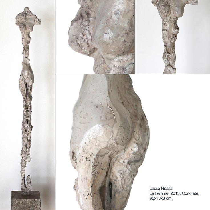 Lasse Nissilä: La Femme, 2013. Concrete. 95x13x8 cm.