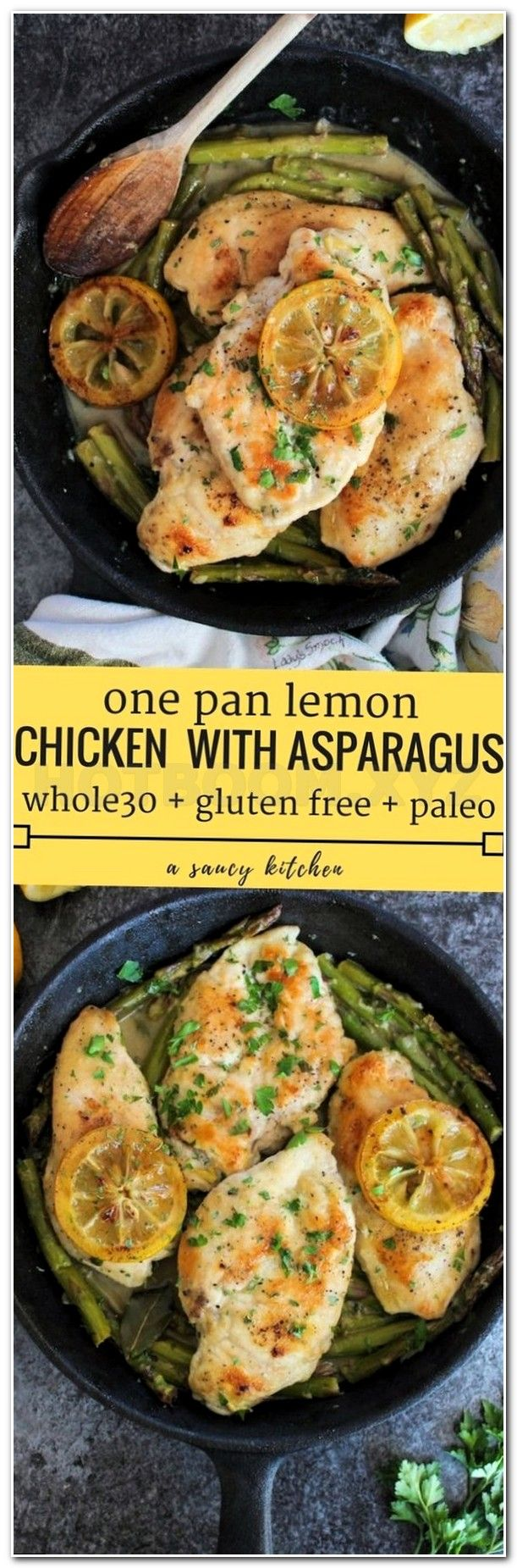 diet One Pan Lemon Chicken with Asparagus
