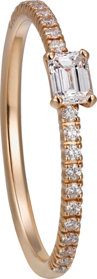 Smaragdschliff diamant ring