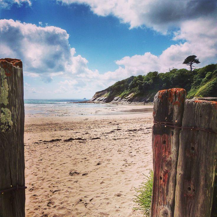 Porthluney Beach, Caerhayes, South Cornwall