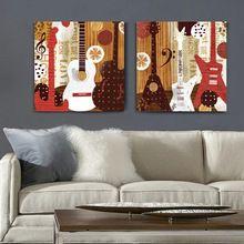 Illustration style guitare musique mur de toile art décor à la maison peinture le salon bureau de Bande Dessinée pas cher moderne peintures