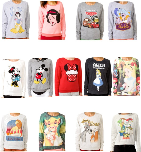 """Disney sweaters from Forever21"" by mynameisbeautiful ❤ liked on Polyvore"
