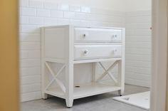 Beach Cottage Coastal Bathroom Vanity and Beach Cottage TV