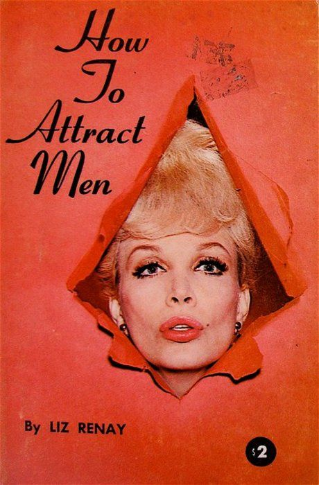 Book Cover Collage Jokes : Quot how to attract men funny vintage book cover art