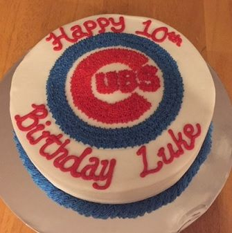 Chicago Cubs Theme Birthday Cake