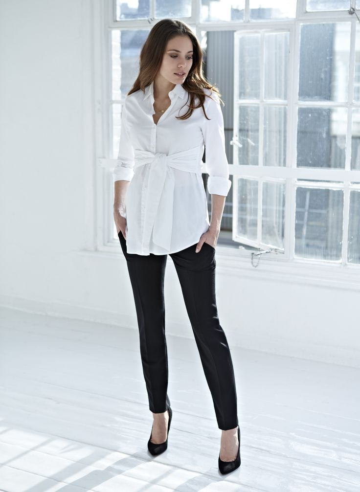 Isabella Oliver | Tie Front Maternity Blouse- perfect for working right up until Maternity leave!