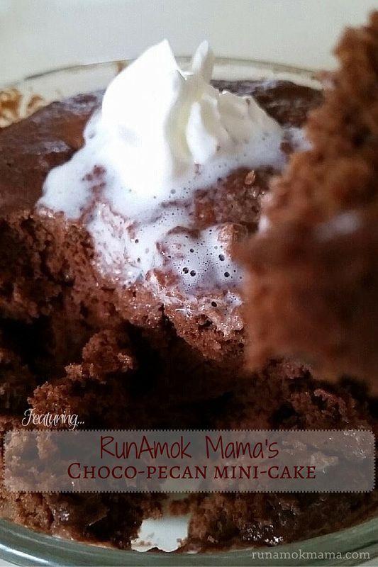 RunAmok Mama's Choco-Pecan Mini-Cake