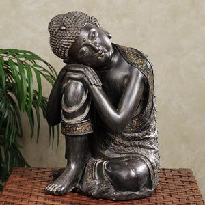 Beautiful Sleeping/Sitting buddha statue for the clinic. No longer available on the linked site (Update: 12/5/2016) First pinned 2.5 years ago. Calm Your Home with Good Feng Shui Energy: Products and Tips for Good Feng Shui: BUDDHA SCULPTURE: Calming Feng Shui Energy for Your Home