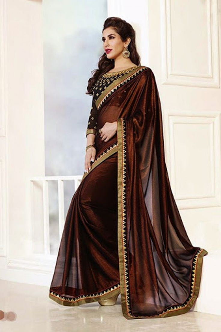Look graceful with New Brown Shimmer and Chiffon Saree Shop now @ http://zohraa.com/brown-shimmer-saree-z1635p38-14.html sku : 60855 Rs. 3,849 #chiffonsaree #sareesonline #sari #sareeonline