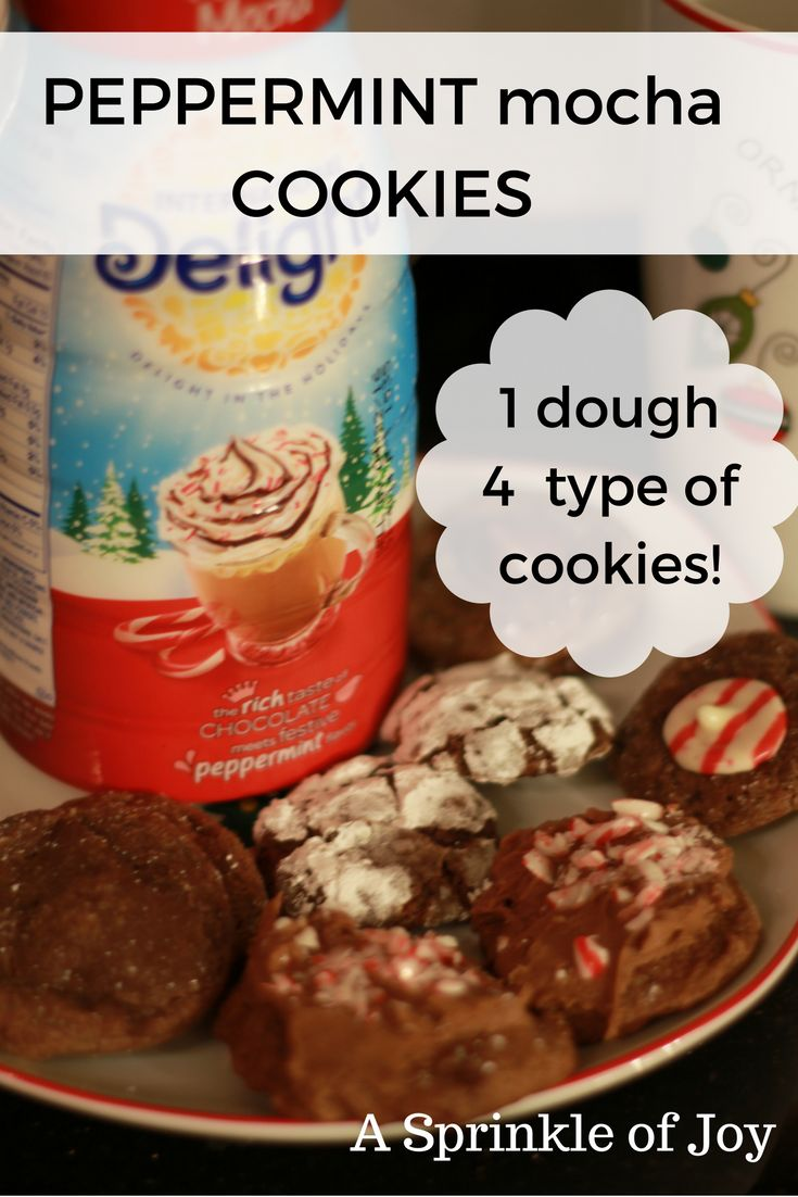 Looking for a new yummy recipe to add to your Christmas baking.  You can make four types of cookies with this yummy dough!