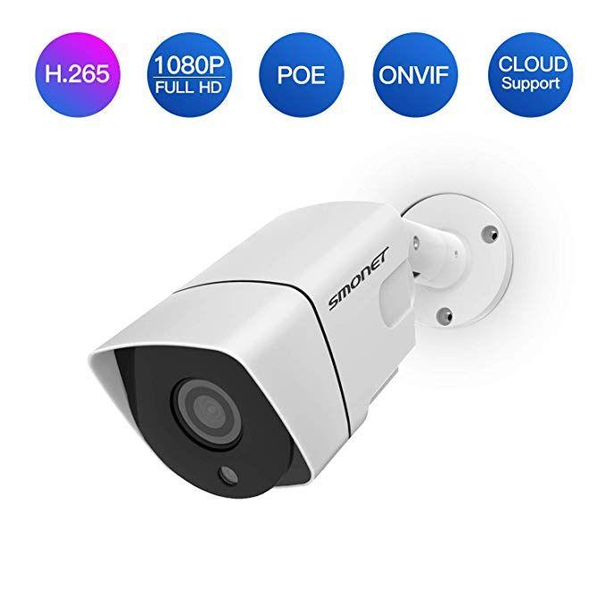 Poe Security Camera Smonet H 265 Full Hd 1080p 2 0 Mega Pixel Ip Camera Ip66 Home Security Camera For Ind Security Cameras For Home Ip Camera Security Camera