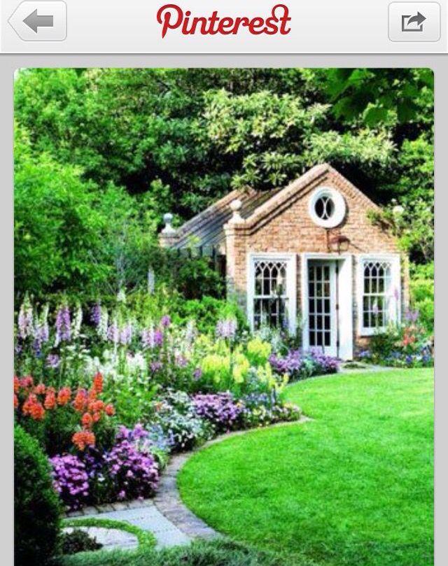 Background hut for a beautiful garden