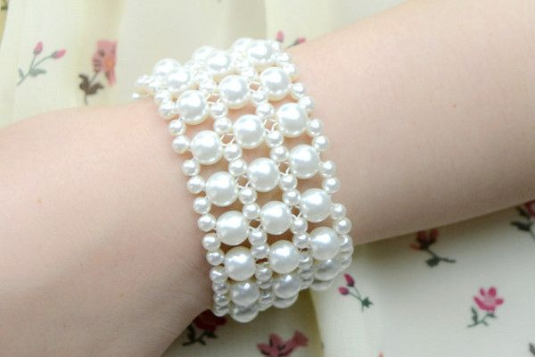 How to Make White Wedding Pearl Bracelet for Bride - Pandahall.com
