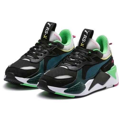 bffc2ecca Puma RS-X Toys Running Shoe Black Blue Atoll Men Size 10 Shoe Sneaker  369449-01