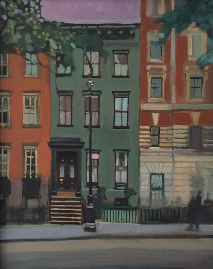 Grey Green house in Greenwich village, NYC.  SOLD