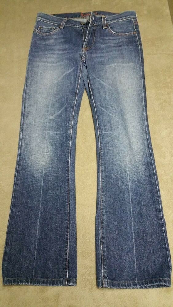 7 For All Mankind Womens Jeans Pants Bootcut 28 X 29 Rise 8
