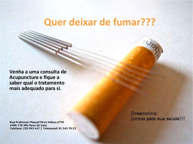 Quer deixar de fumar??? Não hesite e ligue...nós ajudamos.  Venha falar com o nosso Acupuntor Dr Ricardo Marques
