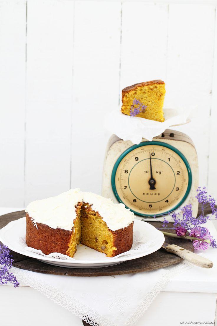 Sweet Potato Cake with Walnuts and Orange Cream Cheese | Zucker, Zimt und Liebe