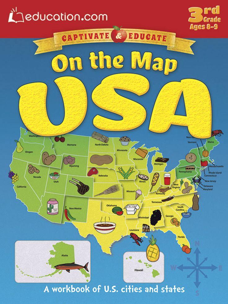 Best Wonderful Workbooks Images On Pinterest Worksheets - 4th grade map us major cities
