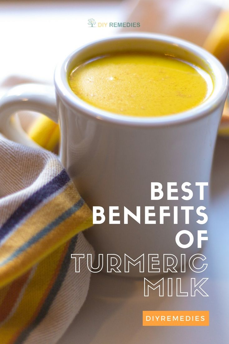 Benefits of Turmeric Milk  Turmeric milk (or golden milk) is an excellent option to include turmeric in your daily diet which is prepared by an infusion of either fresh turmeric root or the dry turmeric powder in warm milk. #DIYRemedies #Turmeric