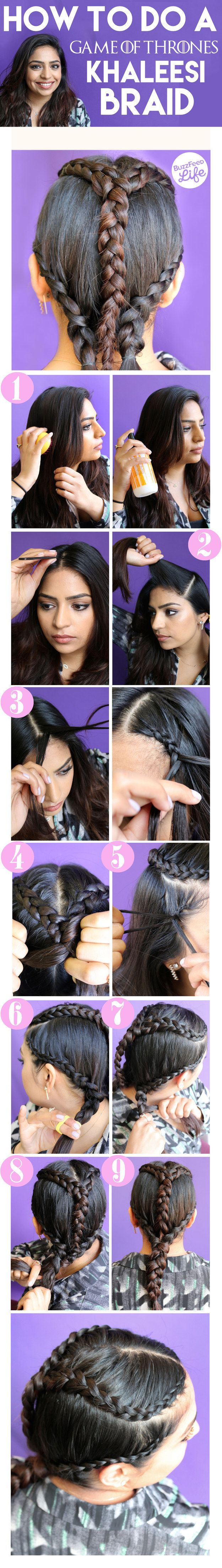 The Easy Peasy Khaleesi: | 3 Game Of Thrones Hair Tutorials You Can Do At Home