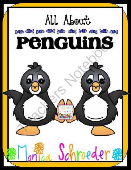 All About Penguins from The Schroeder Page on TeachersNotebook.com -  (63 pages)  - 63 pages of a nonfiction study of penguins.