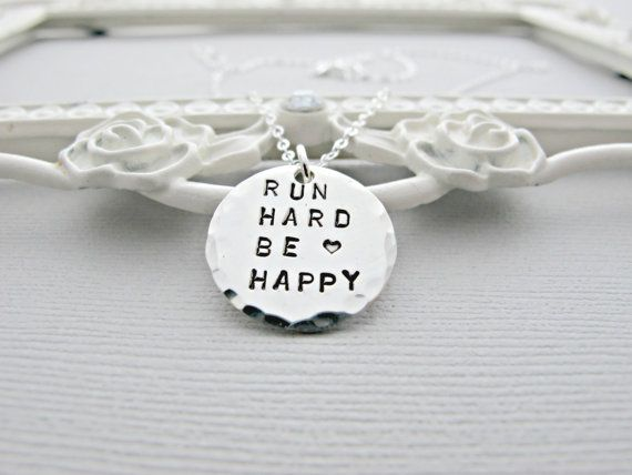 Hey, I found this really awesome Etsy listing at https://www.etsy.com/listing/230350553/run-necklace-running-necklace-silver