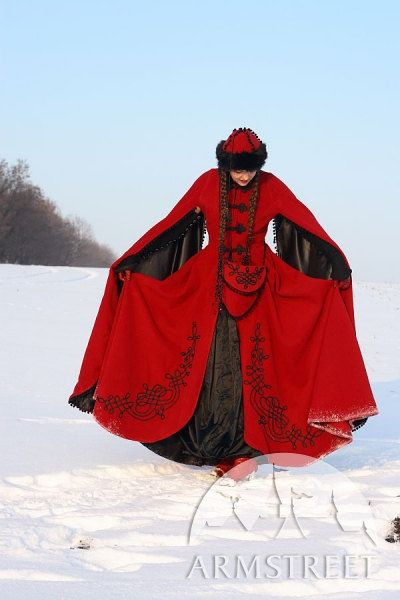 Medieval Fantasy Wool Winter Coat Queen Of Shamakhan by armstreet, $494.99