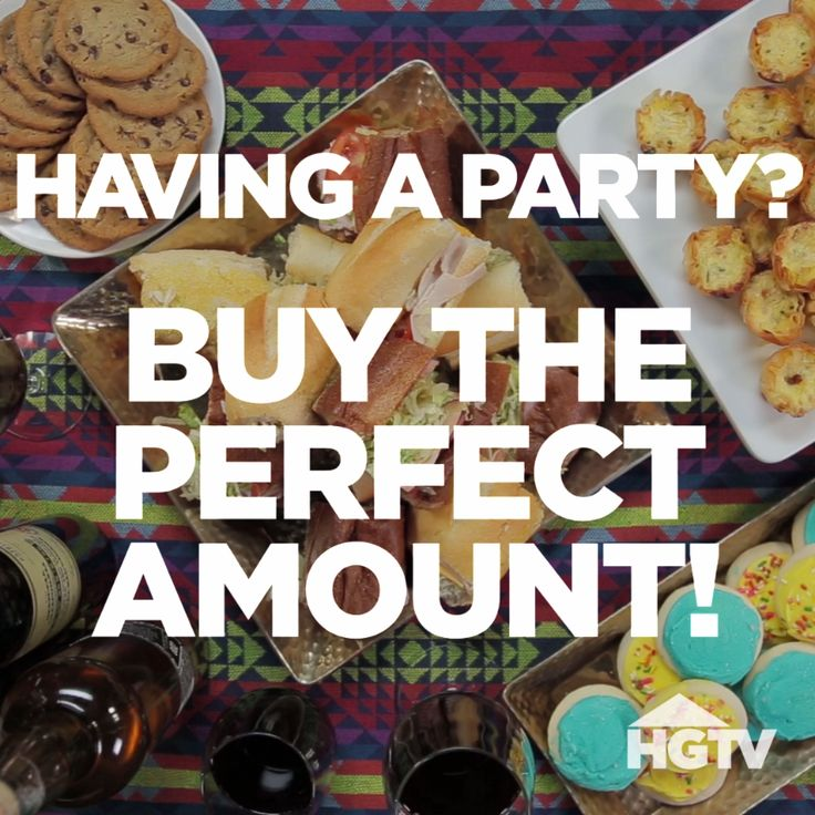 Plan The Perfect Holiday Party Serve The Right Amount Of