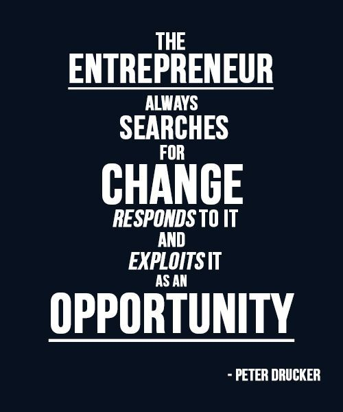 "Aha! ""Results are gained by exploiting opportunities not solving problems"" (Drucker)"
